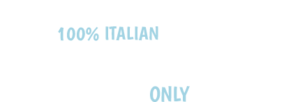 100% Italian pillows only